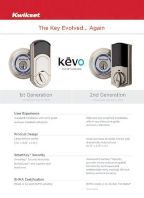 Kevo 1st Gen 2nd Gen Comparison Chart