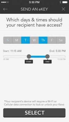 Kevo Send eKey Review Scheduled