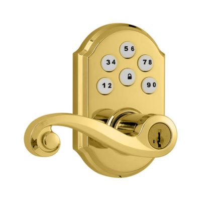 SmartCode Lever Polished Brass