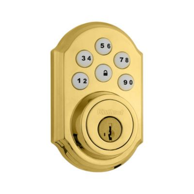 SmartCode Deadbolt Polished Brass
