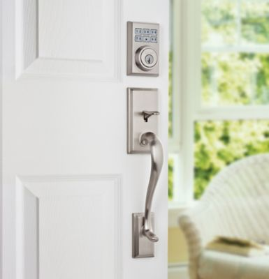 SmartCode Deadbolt Contemporary Satin Chrome Vignette