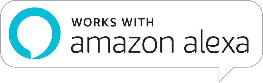 works with Amazon Alexa logo