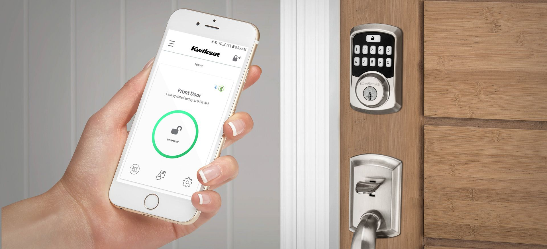 squarerooms-kwikset-kevo-smart-lock-app-phone-in-hand-remote-access-press