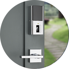 Touch-to-open smart lock for front door access control