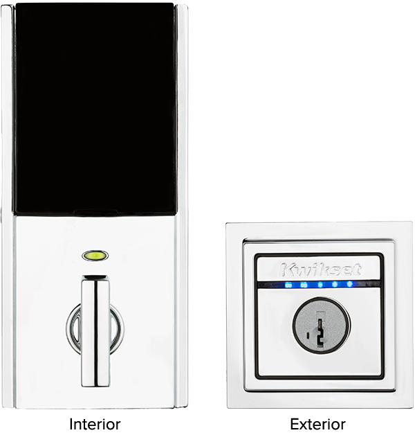 Contemporary interior and exterior touch sensitive smart locks