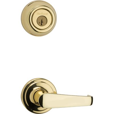 Image for Metal Interconnect Levers - Key Control Deadbolt with Kingston Passage Lever