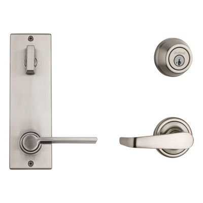Image for Metal Interconnect Levers - Key Control Deadbolt with Kingston and Ladera Passage Lever