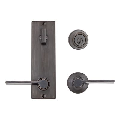 Metal Interconnect Levers - Key Control Deadbolt with Ladera Passage Lever