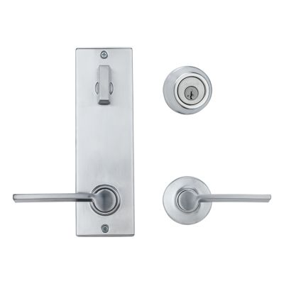 Image for Metal Interconnect Levers - Key Control Deadbolt with Ladera Passage Lever