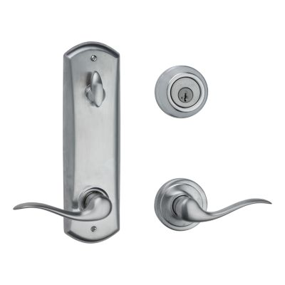 Image for Metal Interconnect Levers - Key Control Deadbolt with Tustin Passage Lever