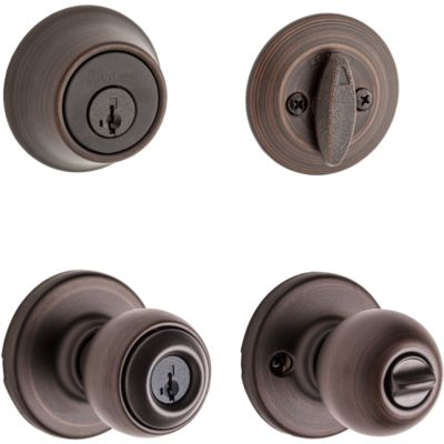 Polo Security Set - Deadbolt Keyed One Side - featuring SmartKey
