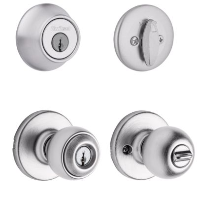 Image for Tylo Security Set - Deadbolt Keyed One Side - with Pin & Tumbler