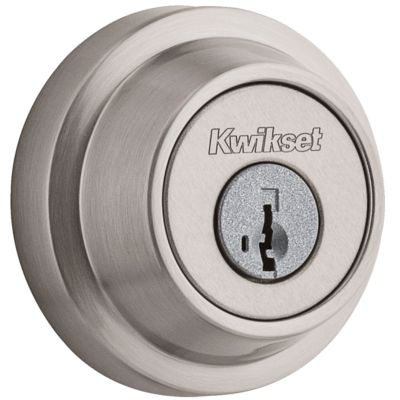 660 Contemporary Round Deadbolt - Keyed One Side - featuring SmartKey