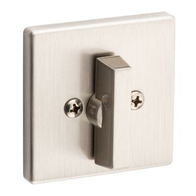 Satin Nickel 663 Contemporary Square One Sided Deadbolt Thumb Turn Only Kwikset