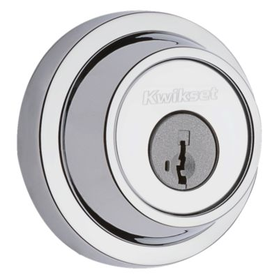 665 Contemporary Round Deadbolt - Keyed Both Sides - featuring SmartKey
