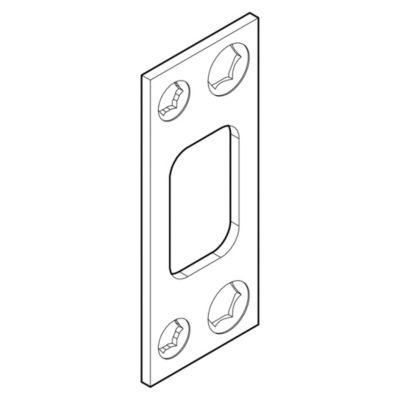820049 - Square Deadbolt Strike