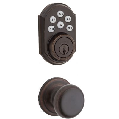 909 Smartcode Traditional Electronic Deadbolt with Hancock Knob