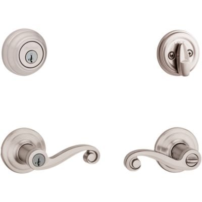 Image for Lido Security Set - Deadbolt Keyed One Side - with Pin & Tumbler