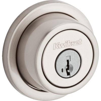 Contemporary Round Deadbolt - Keyed One Side