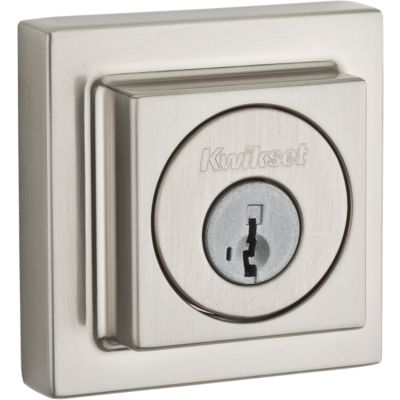 Image for Contemporary Square Deadbolt - Keyed One Side
