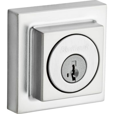Contemporary Square Deadbolt - Keyed One Side