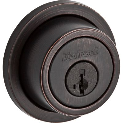 Contemporary Round Deadbolt - Keyed Both Sides