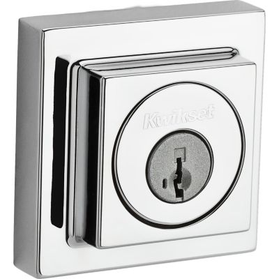 Contemporary Square Deadbolt - Keyed Both Sides