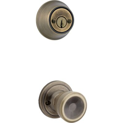 Abbey and Deadbolt Interior Pack - Deadbolt Keyed Both Sides - with Pin & Tumbler - for Kwikset Series 689 Handlesets