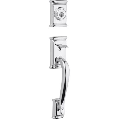 Ashfield Handleset - Deadbolt Keyed One Side (Exterior Only) - featuring SmartKey