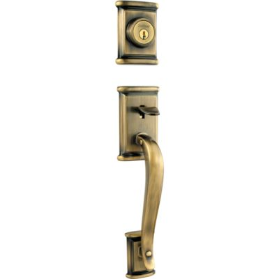 Ashfield Handleset - Deadbolt Keyed One Side (Exterior Only) - with Pin & Tumbler