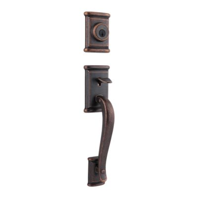 Image for Ashfield Handleset with Commonwealth Lever - Deadbolt Keyed One Side - featuring SmartKey