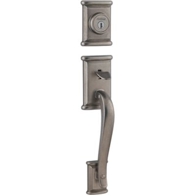 Ashfield Handleset with Hancock Knob - Deadbolt Keyed One Side - featuring SmartKey