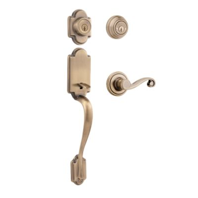 Arlington Handleset with Lido Lever - Deadbolt Keyed Both Sides - featuring SmartKey