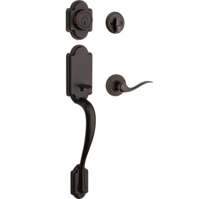 Arlington Handleset with Tustin Lever - Deadbolt Keyed One Side - featuring SmartKey