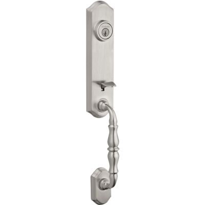 Amherst Handleset - Deadbolt Keyed Both Sides (Exterior Only) - featuring SmartKey