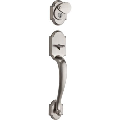 Austin Handleset - Deadbolt Keyed One Side (Exterior Only) - featuring SmartKey