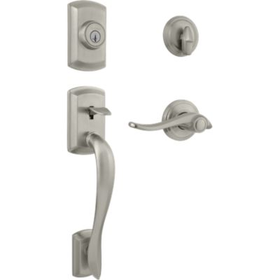 Image for Avalon Handleset with Avalon Lever - Deadbolt Keyed One Side - featuring SmartKey