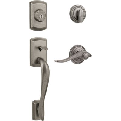 Avalon Handleset with Avalon Lever - Deadbolt Keyed One Side - featuring SmartKey