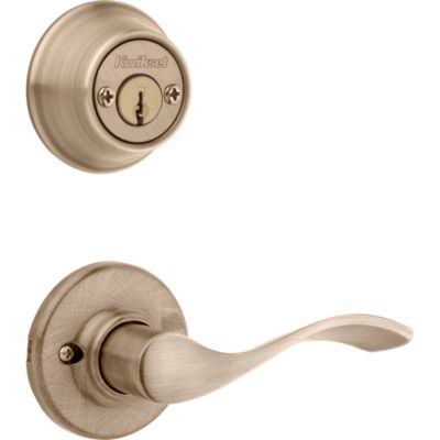 Product Image for Balboa and Deadbolt Interior Pack - Left Handed - Deadbolt Keyed Both Sides - featuring SmartKey - for Kwikset Series 689 Handlesets