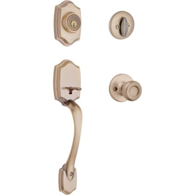 Image for Belleview Handleset with Tylo Knob - Deadbolt Keyed One Side - featuring SmartKey