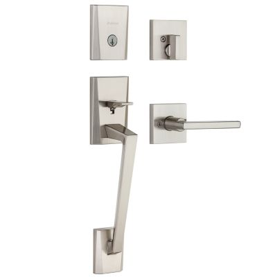 Camino Handleset with Halifax Lever - Deadbolt Keyed One Side - featuring SmartKey
