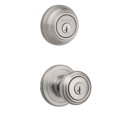 Cameron Knob Security Set - Satin Nickel Finish with Smartkey