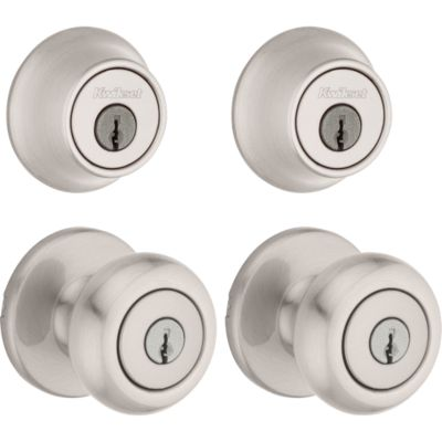 Image for Cove Project Pack - Two Keyed Knobs and Two Keyed One Side Deadbolts - with Pin & Tumbler