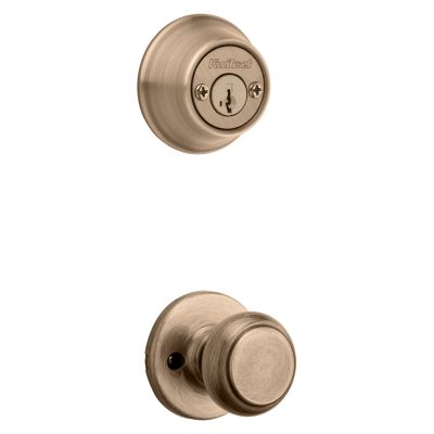 Cove and Deadbolt Interior Pack - Deadbolt Keyed Both Sides - featuring SmartKey - for Kwikset Series 689 Handlesets