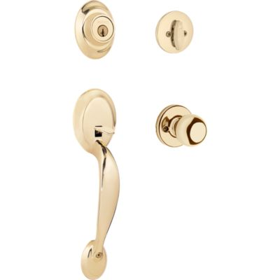 Image for Dakota Handleset with Polo Knob - Deadbolt Keyed One Side - featuring SmartKey