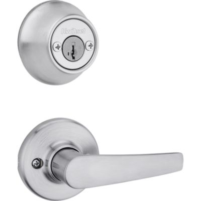 Image for Delta and Deadbolt Interior Pack - Deadbolt Keyed Both Sides - featuring SmartKey - for Kwikset Series 689 Handlesets