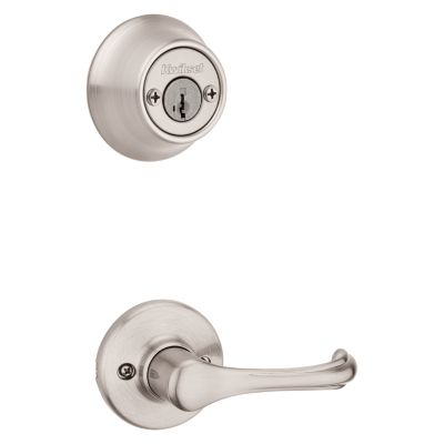 Dorian and Deadbolt Interior Pack - Deadbolt Keyed Both Sides - featuring SmartKey - for Kwikset Series 689 Handlesets