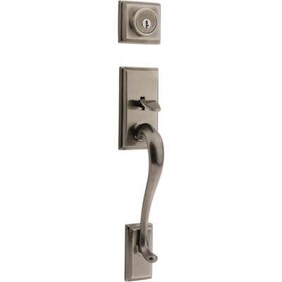 Hawthorne Handleset - Deadbolt Keyed Both Sides (Exterior Only) - with Pin & Tumbler