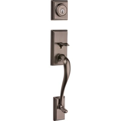 Hawthorne Handleset - Deadbolt Keyed Both Sides (Exterior Only) - featuring SmartKey