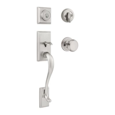 Hawthorne Handleset with Juno Knob - Deadbolt Keyed One Side - featuring SmartKey